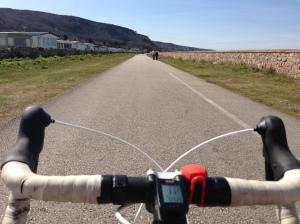 Perfect cycle path at Llanddulas