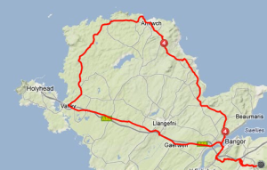 The route around Anglesey