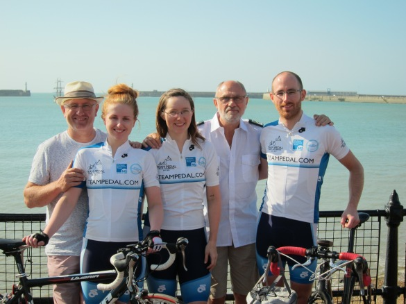 Team Pedal, complete and in Dover