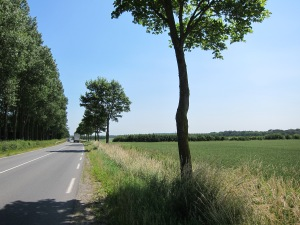Nice flat roads in Northern France